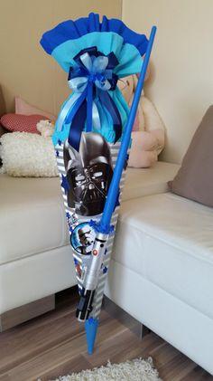 Schultüten - SCHULTÜTE mit coolem star Wars Schwert - ein Designerstück von Schultueten-Fee bei DaWanda