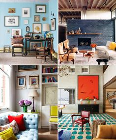 Primary color interiors -liked by Gloss - 'All female decorators'
