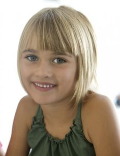 Gorgeous bob with bangs for kids