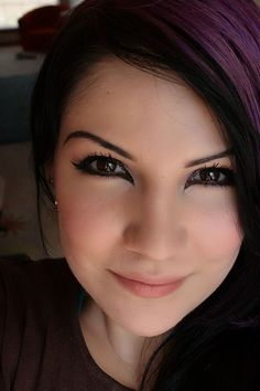 me with my black hair