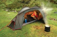 Solo tent & Mountain Hardwear Hunker 1. A one person four season tent. | Tent ...