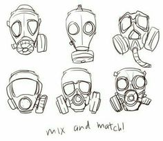 How to draw a gas mask - drawing reference Drawing Techniques, Drawing Tips, Drawing Sketches, Art Drawings, Space Drawings, Sketching Tips, Art Reference Poses, Design Reference, Hand Reference