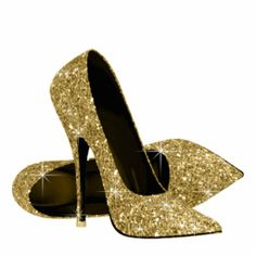 Shop Gold Glitter High Heel Shoes Cutout created by Pure_Elegance. Personalize it with photos & text or purchase as is! High Heels Gold, Gold Shoes, Shoes Heels, Dress Shoes, Stiletto Heels, Black Hills Gold Jewelry, Black Gold, Photo Sculpture, Gold Birthday Party