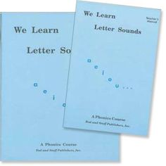 We Learn Letter Sounds - 30 phonics lessons, 4+ Rod & Staff