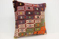 Woven Textile Kilim Pillow Cover 20 x 20 Pillow by kilimwarehouse