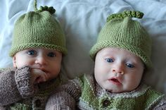 Peas in a Pod free baby hat knitting pattern