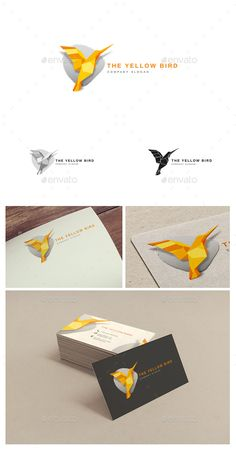 EPS  Yellow Bird Logo Template   • Only available here ➝ http://graphicriver.net/item/logo-template-the-yellow-bird/16524819?ref=pxcr