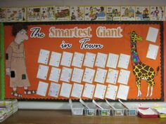Smartest Giant in Town Talk 4 Writing, Julia Donaldson Books, School Displays, Children's Literature, Eyfs, Fractions, Primary School, Book Lists, Display Ideas
