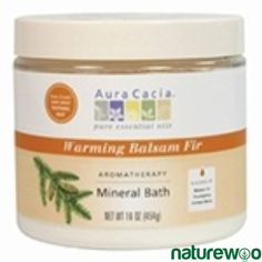 Aura Cacia - 188524 - Warming Balsam Fir, Aromatherapy Mineral Bath jar Juniper Berry Oil, Juniperus Communis, Mineral Bath, Balsam Fir, Foot Soak, Lemon Oil, Eucalyptus Oil, Sodium Bicarbonate, Jar
