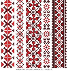 Find Traditional Romanian Folk Art Knitted Embroidery stock images in HD and millions of other royalty-free stock photos, illustrations and vectors in the Shutterstock collection. Russian Embroidery, Folk Embroidery, Cross Stitch Embroidery, Embroidery Patterns, Cross Stitch Borders, Cross Stitch Patterns, Russian Cross Stitch, Bordado Popular, Tribal Print Pattern