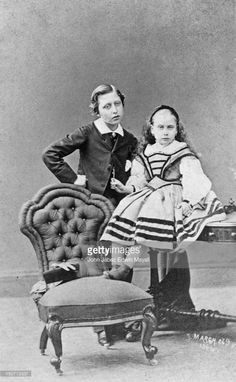 Prince Arthur, Duke of Connaught (1850 - 1942) with his sister Princess Beatrice of Battenburg (1857 - 1944), 26th March 1861. They are the seventh and ninth children of Queen Victoria, respectively.