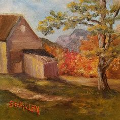 View to The Giant's Steps by Sharon Allen oil plein air ~ 6 x 6