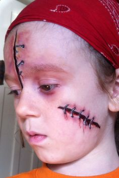 A little gruesome face paint that the boys and tomboys seem to love :D