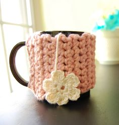 Dress up your lovely cup of tea with this crocheted mug cozy! These cozies are perfect for decorating and insulating your mugs!    This particular cozy