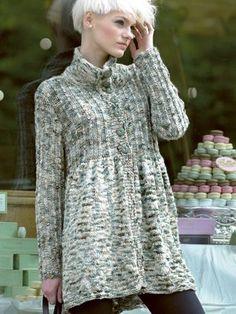 KnittingFever.com  So many free patterns!  FREE THREE QUARTER COAT Pattern