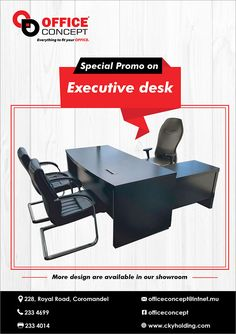 Office Concept Ltd - Special Offer on Executive desk. Tel: 233 4699
