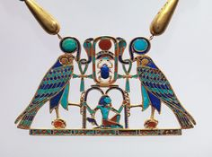 """This 4,000-year-old pendant, which belonged to an Egyptian princess, has 372 separate inlays. """"You have to imagine that nobody saw this except the princess,"""" says curator Adela Oppenheim."""