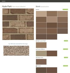 Smithsonian bessemer collection residential brick boral behr benjamin moore ppg paints - Breathable exterior masonry paint collection ...