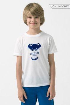 e12caf7bf08db Boy s Short Sleeve Croc Graphic T-Shirt Camisas Infantis, Shorts De Menino,  Lacoste