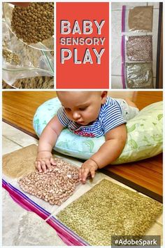 Baby Sensory Bags, Baby Sensory Play, Baby Play, Sensory Wall, Sensory Boards, Baby Learning Activities, Infant Sensory Activities, 8 Month Old Baby Activities, Kids Learning
