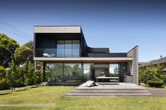 The Corner is a minimalist house located in Melbourne, Australia, designed by Bower Architecture. An integral part of our philosophy is that the best design solutions come out of the most difficult spatial problems. (4)