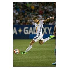 Stevie in action against Santos