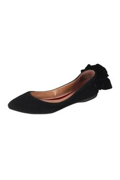 Christian Siriano for Payless Arabella Pointed Toe Bow Flat, $40, available at Payless.