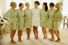$217 for seven personalized robes. Great bridesmaids gift, also makes for cute pics while getting ready.
