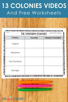 Bring 13 Colonies history to life for your kids with these fun and engaging videos! These videos make a fun addition to any lessons, activities, or projects! Social Studies Notebook, 6th Grade Social Studies, Social Studies Activities, Teaching Social Studies, 13 Colonies Map, Teaching Us History, History Education, Map Projects, History Projects