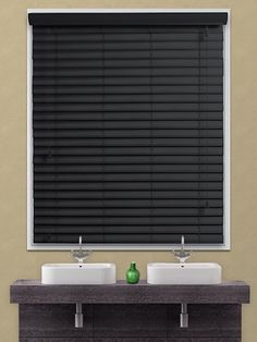 the expressions high shine black wooden venetian blind is a faux wooden blind which unlike real blinds