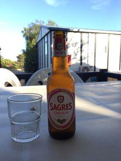 Cerveza sagres portuguesa, tipo lager.