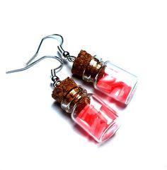 Kolczyki KANDYZOWANE SERCA różowe w unoprimo na DaWanda.com Sweet Hearts, Personalized Items, Etsy
