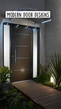 Modern Entrance Door, Main Entrance Door Design, Modern Exterior Doors, Front Door Entrance, Entrance Decor, Front Door Design, House Entrance, Window Design, Entrance Ideas