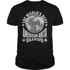 THE WORLDS BEST AMERICAN AKITA GRANDPA T-SHIRTS