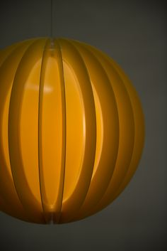 Mid century ceiling lamps in plastic at Studio Schalling #retro