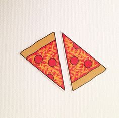 Temporary Tattoos. Pepperoni Pizza. Two by tattoosloveletters