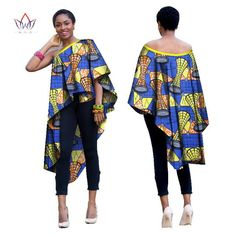 African Dress for Women Autumn sleeveless long-party-dress Dashiki embroidery african off the shoulder Plus Size African Tops, African Dresses For Women, African Print Dresses, African Print Fashion, African Attire, African Wear, African Fashion Dresses, Ethnic Fashion, African Women