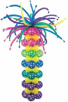 Decoración con Globos - Cómo hacer una Columna : Fiestas Infantiles Decoracion