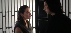 I swear she looked at his lips in this scene... I'd need to see it again to be sure though. #Reylo