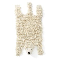 This super cute sheep rug is perfect in any child's room – for a touch of fun and lovely, natural softness. Product details• 100% wool• Weight: 1,000g/m²• Pile height: 30-35mm• Width: 45cm • Length: 100cm