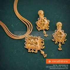 Make an extraordinary #stylestatement with this magnificent, graceful #gold #necklaceset from our all new #jewellery collection.