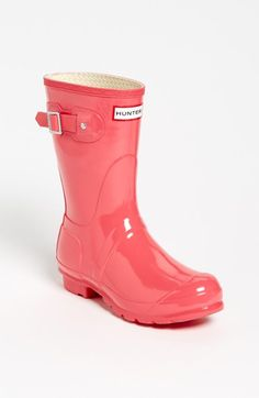 Hunter 'Original Short' Gloss Rain Boot (Women) available at #Nordstrom