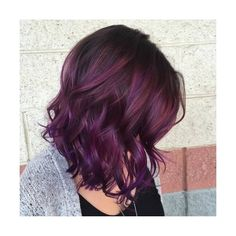 20 Versatile Ideas of Purple Highlights for Blonde, Brown and Red Hair ❤ liked on Polyvore featuring hair
