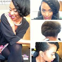 milkandhoneyhair:    Loving this infinity braid/twist on natural hair.      www.bella-kinks.com