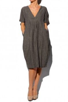 Masai Clothing Organic Grey Nanny Fitted Dress from Getmyfashion.com