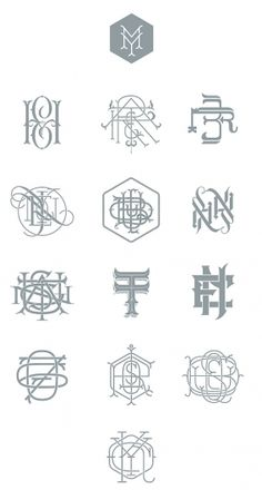 Types & Monograms on the Behance Network