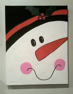 Check out this item in my Etsy shop https://www.etsy.com/listing/208323776/snowman-canvas-painting