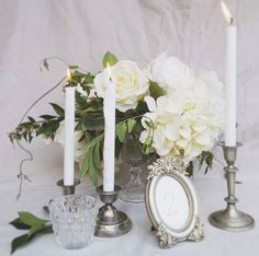 Romantic, elegant and classic centerpiece