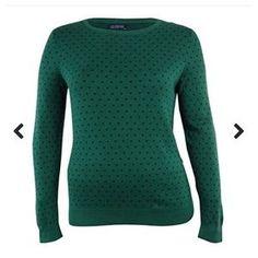 Tommy Hilfiger Knit Green Polka