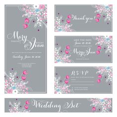 "Wedding invitation, ""Bridal shower announcement"", ""Save the Date card"", ""Wedding name card"", ""Thank you card"", ""RSVP  response"".. $18.88, via Etsy."